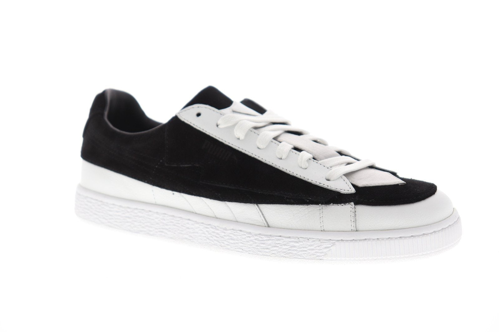 half off 6cb31 ceeb9 Puma Suede Classic X Karl 2 Mens Black Suede Low Top Lace Up Sneakers Shoes