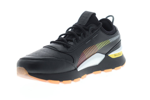 Puma RS-0 X Roland 36840601 Mens Black Leather Lace Up Sneakers Shoes