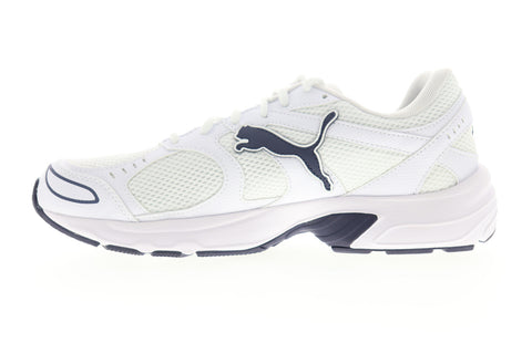 Puma Axis 36846504 Mens White Mesh Lace Up Athletic Running Shoes