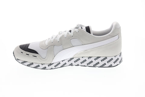 Puma RS-100 Summer Mens White Mesh Low Top Lace Up Sneakers Shoes