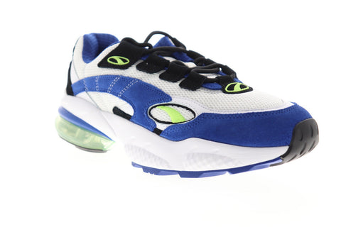 Puma Cell Venom 36935401 Mens White Blue Mesh Lace Up Low Top Sneakers Shoes