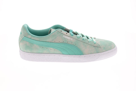 Puma Suede Diamond Supply Mens Blue Suede Low Top Lace Up Sneakers Shoes