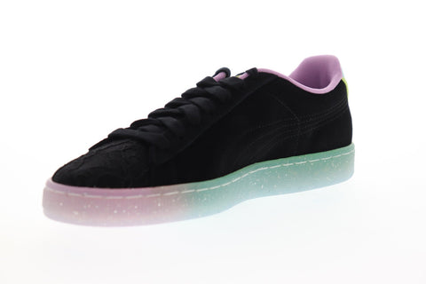 Puma Suede Sophia Webster Womens Black Suede Low Top Lace Up Sneakers Shoes