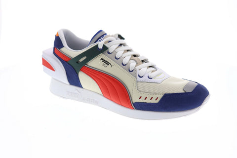Puma Rs-1 Ader Error Mens Beige Mesh & Suede Low Top Lace Up Sneakers Shoes