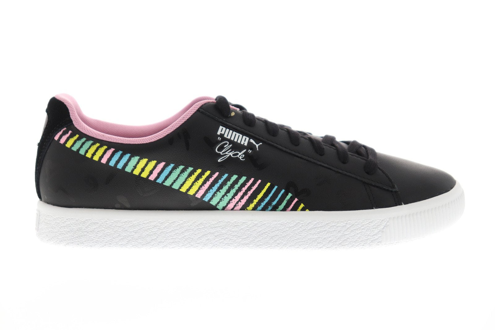 outlet store 7f113 ae5ae Puma Clyde Bradley Theodore Mens Black Leather Low Top ...