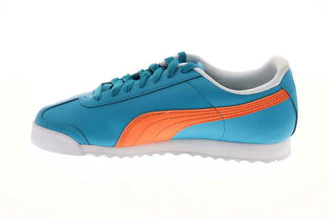 Puma Roma Basic + 36957103 Mens Blue Classic Lace Up Lifestyle Sneakers Shoes