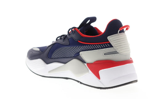 Puma RS-X Core 36966605 Mens Blue Mesh Lace Up Low Top Sneakers Shoes