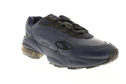 Puma Cell Venom Front Dupla Mens Blue Leather Low Top Sneakers Shoes