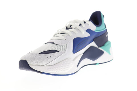 Puma RS-X Hard Drive 36981802 Mens White Mesh Lace Up Low Top Sneakers Shoes