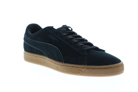 Puma Suede Classic Winter 36988501 Mens Black Suede Low Top Sneakers Shoes