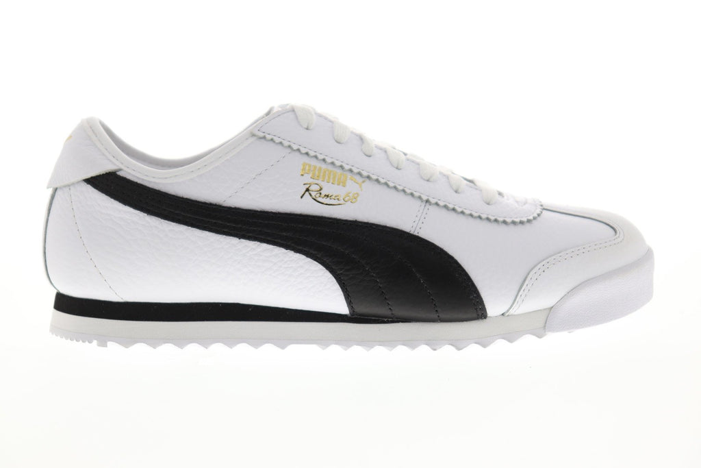 8dddd95013 Puma Roma 68 Vintage Mens White Leather Low Top Lace Up Sneakers Shoes