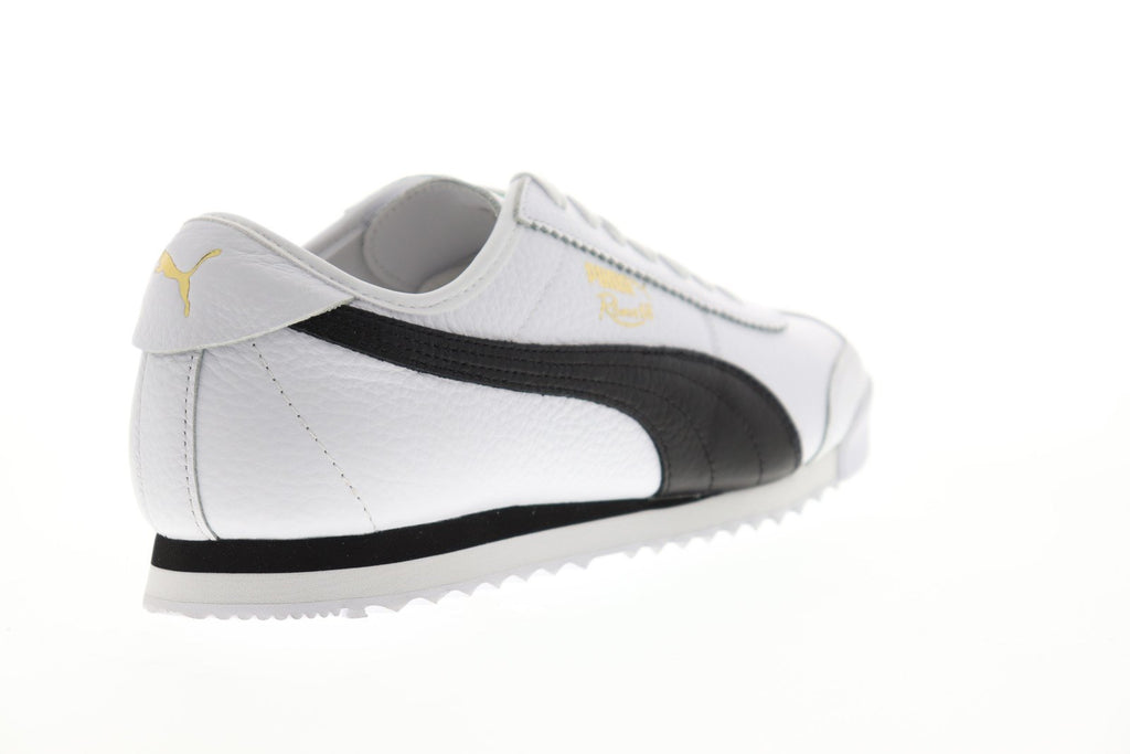 774abd8be9 Puma Roma 68 Vintage Mens White Leather Low Top Lace Up Sneakers ...