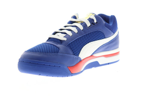 Puma Palace Guard Finals Mens Blue Leather & Mesh Low Top Sneakers Shoes