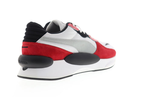 Puma RS 9.8 Space 37023001 Mens White Suede Lace Up Lifestyle Sneakers Shoes