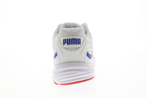 Puma Axis Plus 90S Mens White Mesh Athletic Lace Up Running Shoes