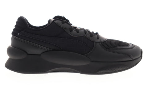 Puma RS 9.8 Core 37036802 Mens Black Mesh Canvas Low Top Sneakers Shoes