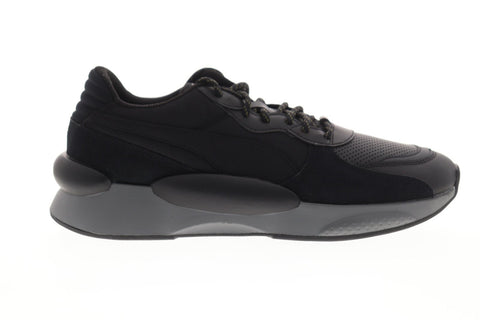 Puma RS 9.8 Earth 37036901 Mens Black Leather Lace Up Low Top Sneakers Shoes