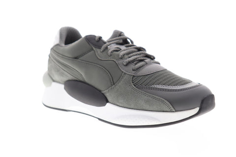 Puma RS 9.8 Gravity 37037002 Mens Gray Suede Lace Up Low Top Sneakers Shoes