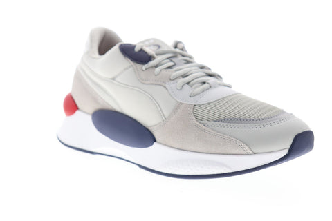 Puma RS 9.8 Gravity 37037003 Mens Gray Mesh Suede Low Top Sneakers Shoes