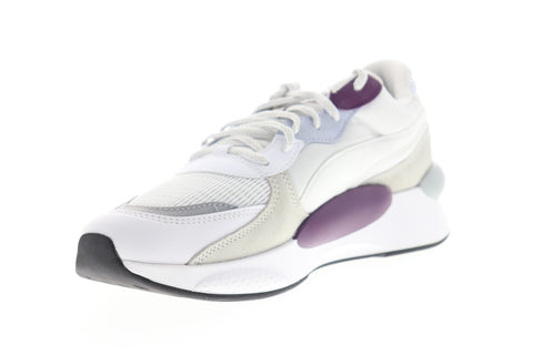 Puma RS 9.8 Gravity 37037005 Mens White Suede Lace Up Low Top Sneakers Shoes