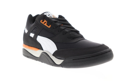 Puma Palace Guard Bb Mens Black Leather & Textile Low Top Sneakers Shoes