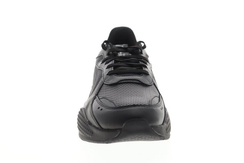 Puma RS-X Winterized 37052202 Mens Black Leather Lace Up Low Top Sneakers Shoes