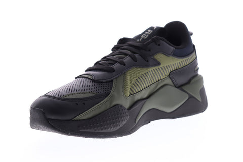 Puma Rs-X Winterized 37052203 Mens Black Leather Low Top ...