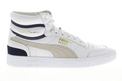 Puma Ralph Sampson Mid OG 37071801 Mens White The Archive Sneakers Shoes