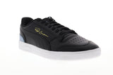 Puma Ralph Sampson LO 37084605 Mens Black Leather Low Top Sneakers Shoes