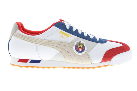 Puma Roma X Club Deportivo Guadalajara 37090001 Mens White Sneakers Shoes