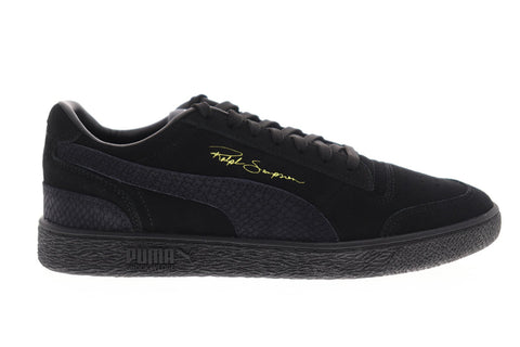 Puma Ralph Sampson LO Reptile 37096601 Mens Black Low Top Sneakers Shoes