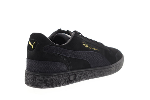 Puma Ralph Sampson LO Reptile 37096601 Mens Black Suede Lifestyle Sneakers Shoes