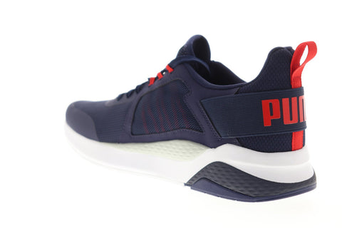 Puma Anzarun 37113104 Mens Blue Mesh Lace Up Low Top Sneakers Shoes