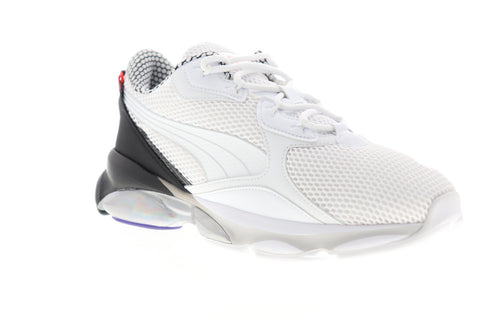 Puma Cell Dome Galaxy 37176301 Mens White Mesh Low Top Lifestyle Sneakers Shoes