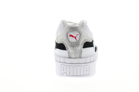 Puma Cali Glitz 37187101 Womens White Leather Low Top Lifestyle Sneakers Shoes