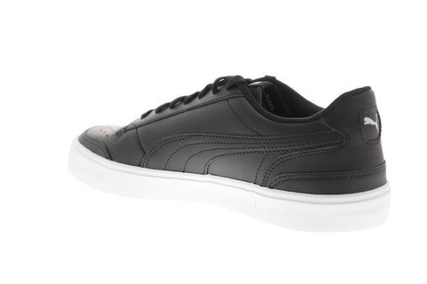 Puma Ralph Sampson Vulc 37190702 Mens Black Leather Low Top Sneakers Shoes