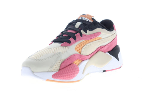 Puma RS-X3 Mesh Pop 37211701 Womens Beige Mesh Low Top Sneakers Shoes