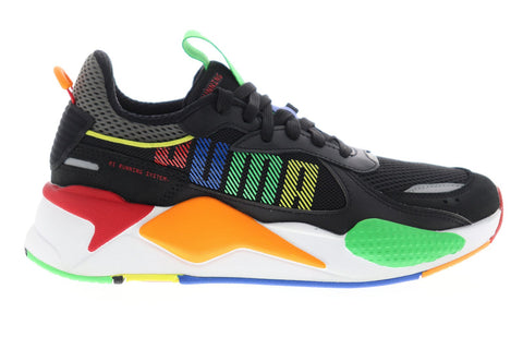 Puma Rs-X Bold 37271501 Mens Black Mesh Lace Up Low Top Sneakers Shoes