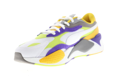 Puma RS-X3 Level Up 37316901 Mens White Mesh Low Top Sneakers Shoes
