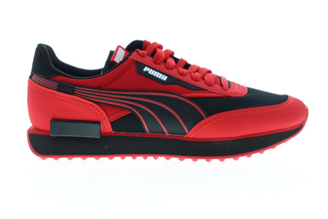 Puma Rider Ripper 37363101 Mens Red Mesh Lace Up Low Top Sneakers Shoes