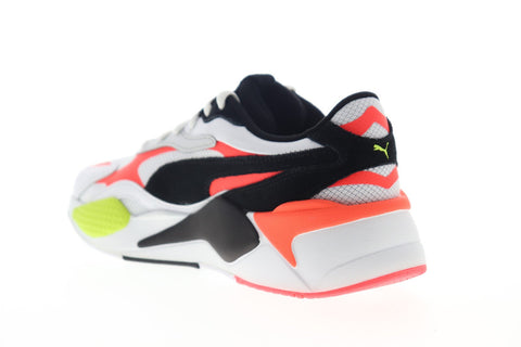 Puma RS-X3 Lava Blast 37460601 Mens White Leather Low Top Sneakers Shoes