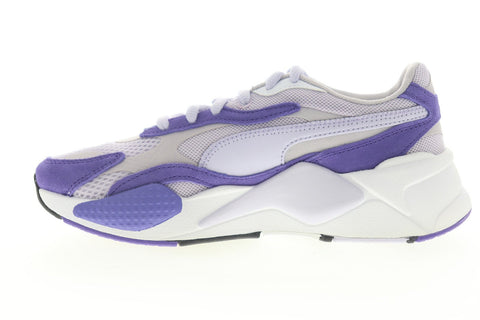 Puma RS-X3 Super 37466008 Womens Blue Mesh Lace Up Low Top Sneakers Shoes