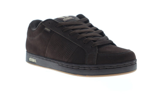 Etnies Kingpin Mens Brown Suede Athletic Lace Up Skate Shoes