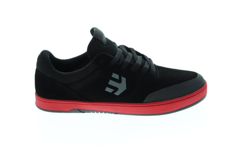 Etnies Marana Mens Black Suede Athletic Lace Up Skate Shoes