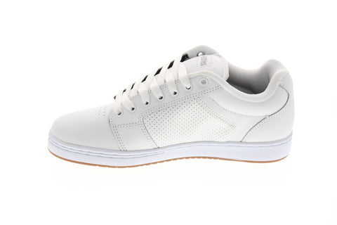 Etnies Barge Xl Mens White Leather Athletic Lace Up Skate Shoes
