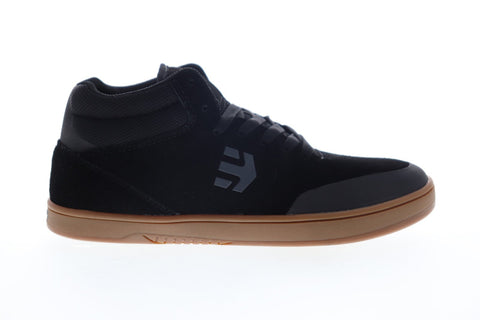 Etnies Marana Mid 4101000495558 Mens Black Suede Lace Up Athletic Skate Shoes