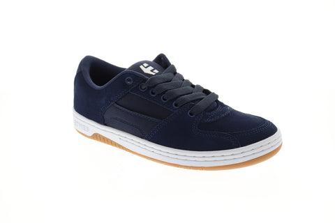 Etnies Senix Lo Mens Blue Suede Athletic Lace Up Skate Shoes