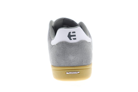 Etnies Veer Mens Gray Suede Athletic Lace Up Skate Shoes