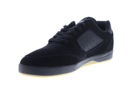 Etnies Veer Mens Black Suede Athletic Lace Up Skate Shoes