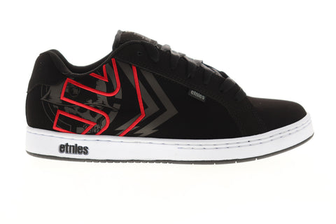 Etnies Metal Mulisha Fader Mens Black Nubuck Leather Skate Sneakers Shoes